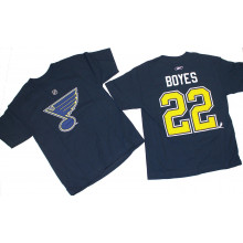 NHL Officially Licensed St. Louis Blues BOYES Youth Player T-Shirt (Mediun 10-12)