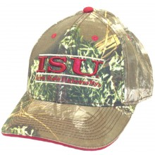 "NCAA Licensed Iowa State Cyclones Embroidered ""ISU"" Camo Baseball Style Hat Cap"