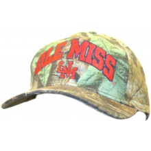 NCAA Officially Licensed Ole Miss Rebels Block Name Camo Hat Cap Lid