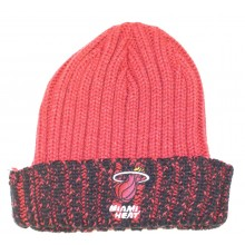 NBA Officially Licensed Miami Heat Knit Black Red Cuffed Beanie Hat Cap Lid Toque