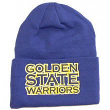 NBA Officially Licensed Golden State Warriors Embroidered Wide Cuffed Beanie Hat Cap Lid