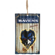 Baltimore Ravens Corrugated Metal Ornament