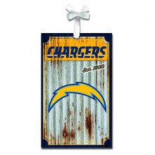 LA Chargers Corrugated Metal Ornament