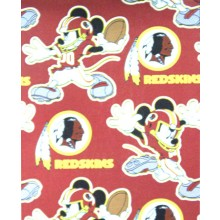 "NFL Officially Licensed Washington Redskins 40""X50"" Mickey Mouse Character Fleece Throw"