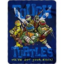 "Officially Licensed Teenage Mutant Ninja Turtles Tough Turtle Blues 46""x60"" Fleece Throw Blanket"