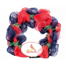 "MLB Licensed St Louis Cardinals 15"" Mesh Christmas Wreath"