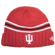 NCAA Officially Licensed Indiana Hoosiers 3 Stripe Knit Beanie Hat Cap Lid