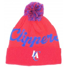 NBA Officially Licensed Los Angeles Clippers Red Print Cuffed Pom Beanie Hat Cap Lid Toque