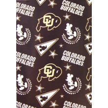 "Officially Licensed NCAA Colorado Buffaloes 50""X60"" Mickey Mouse Character Fleece Throw"