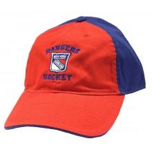 New York Rangers Script Slouch Adjustable Hat