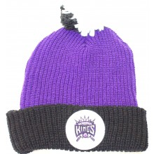 NBA Officially Licensed Sacramento Kings Mitchell & Ness Purple Knit Cuffed Pom Beanie Hat Cap Lid …