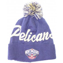 NBA Officially Licensed New Orleans Pelicans Navy Print Cuffed Pom Beanie Hat Cap Lid …