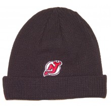 NHL Licensed Cuffed Ribbed Knit Beanie Hat Cap Lid Skull Toque (New Jersey Devils)