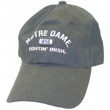 NCAA Officially Licensed Notre Dame Fighting Irish Established Black Hat Cap Lid