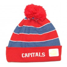 Washington Capitals Stitched Cuff Knit Pom Beanie