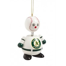 Oakland A's Wooden Ball Man Ornament