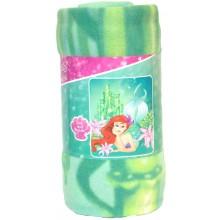 """Disney Princess Ariel's Garden Light Weight Fleece Throw 50"""" x 60"""""""