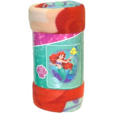 "Disney Princess Undersea Paradise  Light Weight Fleece Throw 50"" x 60"""