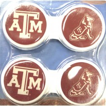 Texas A&M Aggies Contact Lens Case 2 Pack