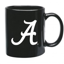 Alabama Crimson Tide 15 oz Black Ceramic Coffee Cup