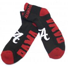 Alabama Crimson Tide Black Ankle Tab Socks