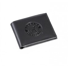 Alabama Crimson Tide Black Leather Bi-Fold Wallet