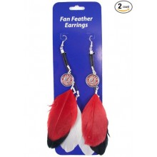 Alabama Crimson Tide  Fan Feather Earrings