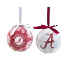Alabama Crimson Tide  LED Ball Ornaments Set of 2