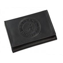 Alabama Crimson Tide Black Leather Tri-Fold Wallet
