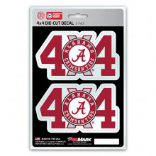 Alabama Crimson Tide 4x4 Decal 2 Pack