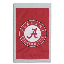 "Alabama Crimson Tide  28"" x 44"" Two Sided Applique House Flag"