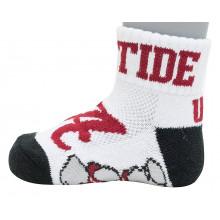 Alabama Crimson Tide Baby White Quarter Socks