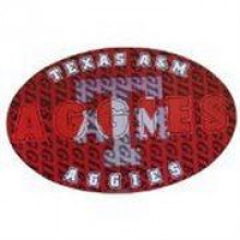 "Texas A&M Aggies 3-D 9"" X 6"" Oval Ultradepth Hologram Magnet"