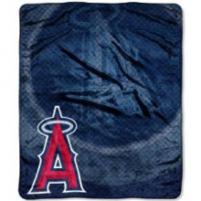 LA Angels 50 x 60 inches Royal Plush Raschel Throw