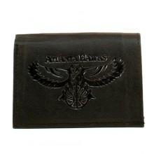 Atlanta Hawks Black Leather Wallet