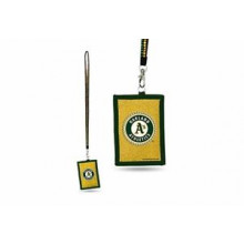 Oakland Athletics Beaded Lanyard I.D. Wallet