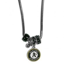 Oakland Athletics Euro Bead Charm Necklace