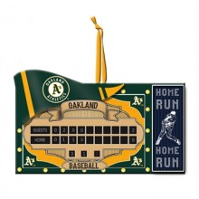 Oakland A's Team Scoreboard Ornament