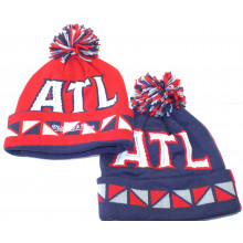 Atlanta Hawks Mitchell and Ness Graphic Pom Cuff Beanie