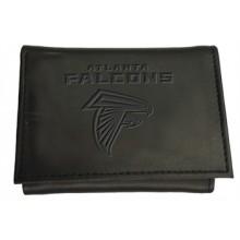 Atlanta Falcons Black Leather Tri-Fold Wallet