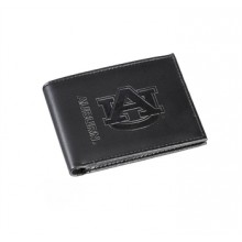 Auburn Tigers Black Leather Bi-Fold Wallet