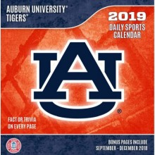 Auburn Tigers 2019 Boxed Desk Calendar