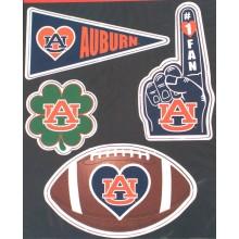 Auburn Tigers 4 piece Magnet Set