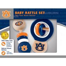 Auburn Tigers Wooden Baby Rattle Set