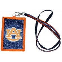 Auburn Tigers Beaded Lanyard I.D. Wallet