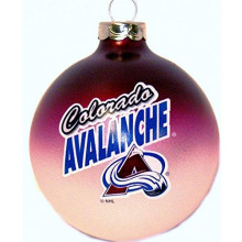 Colorado Avalanche Glass Ball Ornament