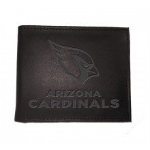 Arizona Cardinals Black Leather Bi-Fold Wallet