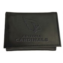 Arizona Cardinals Black Leather Tri-Fold Wallet