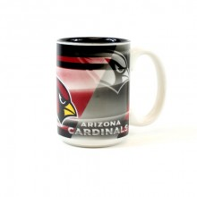 Arizona Cardinals 15oz Shadow Ceramic Mug