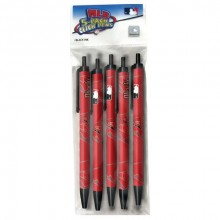Arizona Diamondbacks Red 5 Count Click Pens